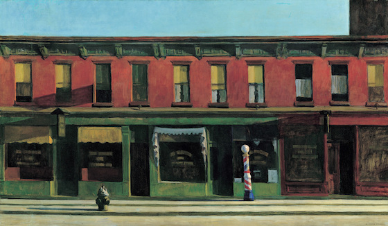 "Edward Hopper, Early Sunday Morning, 1930, oil on canvas, 35 3/16 x 60 1/4"" (Whitney Museum of American Art)"