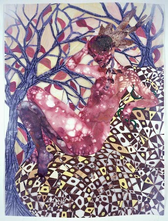 Wangechi Mutu, Preying Mantra, 2006, mixed media on mylar (Brooklyn Museum) © Wangechi Mutu, all rights reserved