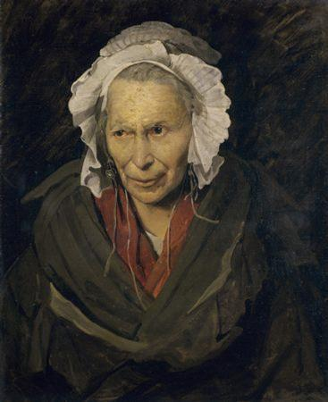Théodore Géricault, Portrait of a Woman Suffering from Obsessive Envy, also known as The Hyena of the Salpêtrière, c. 1819-20, 72 x 58 cm (Musee des Beaux-Arts de Lyon)