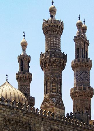 Minaretes de la mezquita de Al-Azhar, El Cairo, Egipto (foto: Ahmed Al.Badawy