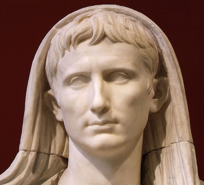 Portrait of Augustus as Pontifex Maximus from the Via Labicana, after 12 B.C.E. (Palazzo Massimo alle Terme, Rome)