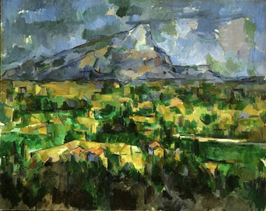 Paul Cézanne, Mont Sainte-Victoire, 1902-04, oil on canvas, 28 3/4 x 36 3/16 inches (73 x 91.9 cm) (Philadelphia Museum of Art)