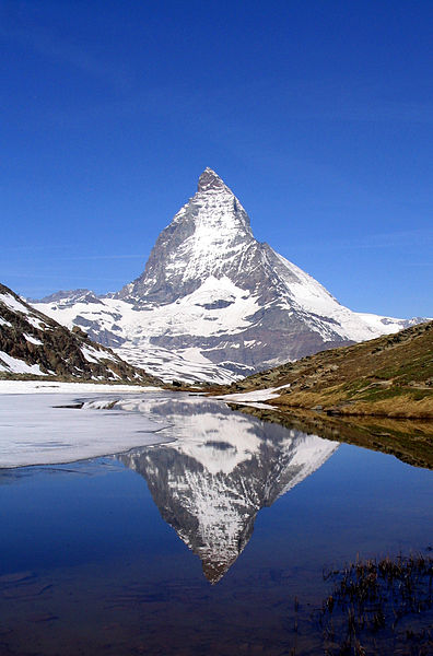 The Matterhorn, one of the highest peaks in the Alps
