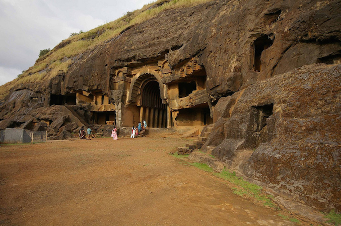 Bhaja Caves, c. 3rd century B.C.E. to 2nd century B.C.E., photo: Andrea Kirkby. Twenty-two caves are located at the site.
