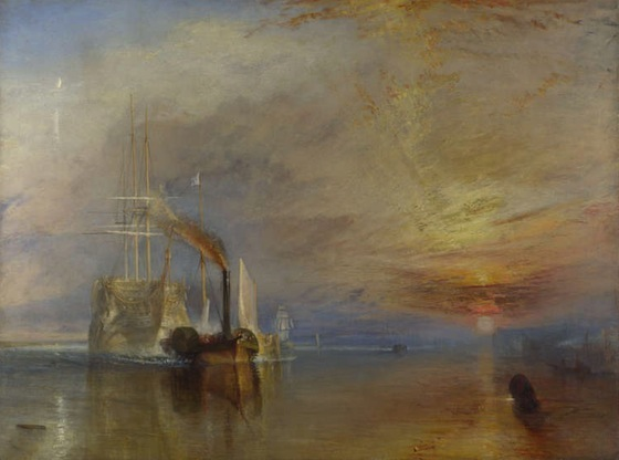 Joseph Mallord William Turner, The Fighting Temeraire, 1839, oil on canvas, 90.7 x 121.6 cm (The National Gallery, London)