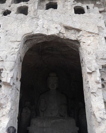 Entrance to Central Binyang Cave, 508–523 C.E. Longmen Caves, Luoyang, China, photo: Maite Elorza   (CC BY-NC-SA 2.0)