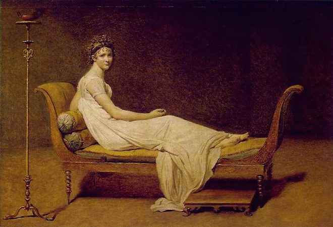 Jacques-Louis David, Madame Récamier, c. 1800, oil on canvas, 173 x 243 cm (Louvre)