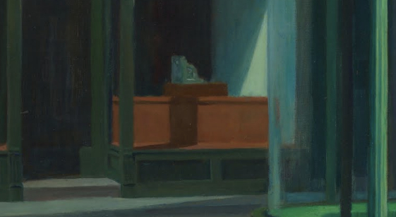 Detail: Edward Hopper, Nighthawks, 1942