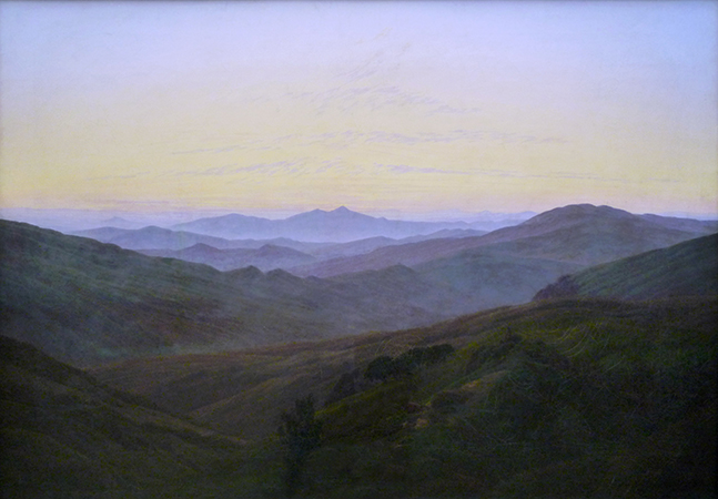 Caspar David Friedrich, The Riesengebirge Mountains, 1835, oil on canvas, 73.5 x 102.5 cm (Alte Nationalgalerie, Berlin)