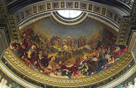 Jules-Claude Ziegler, The History of Christianity, 1835-38, mural, Church of La Madeleine (Paris)