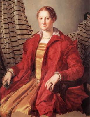 Agnolo Bronzino, Eleonora of Toledo, c. 1550, oil on wood, 109 x 85 cm (Gallerie Sabauda, Turin)