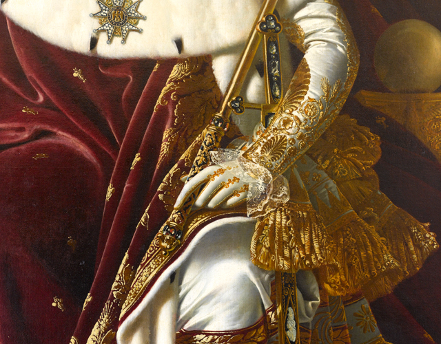 Sword (detail), Jean-Auguste-Dominique Ingres, Napoleon on his Imperial Throne, 1806, oil on canvas, 260 x 163 cm (Musée de l'Armée, Paris)