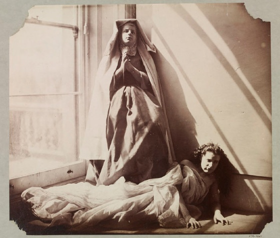 Lady Clementina Hawarden, Clementina and Florence Elizabeth Maude, 1863-64, albumen print photograph