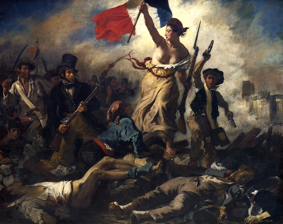 Eugène Delacroix, Liberty Leading the People, oil on canvas, 2.6 x 3.25m, 1830 (Louvre, Paris)