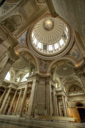 Dome, Jacques-Germain Soufflot, Church of Ste-Geneviève (now Le Panthéon), 1755-90, Paris, France