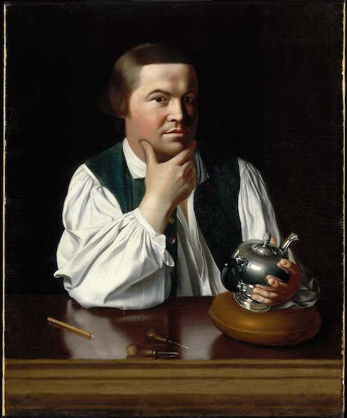 John Singleton Copley, Paul Revere, 1768, oil on canvas, 89.22 x 72.39 cm (Museum of Fine Arts, Boston)