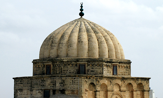 Exterior view of the mihrab dome in the Great Mosque of Kairouan, Tunisia (photo: Chuck Moravec, CC BY 2.0)