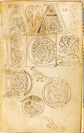 Model book (probably Florence), c. 1150-1175, Cambridge, Fitzwilliam Museum, MS 83-1972, f.1r