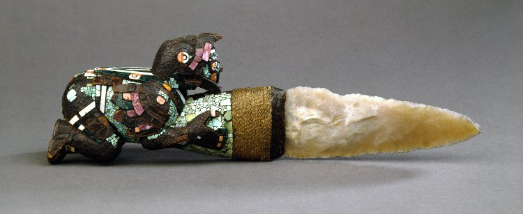 aztec or mixtec ceremonial knife The ceremonies were complex, using obsidian knives to cut out the beating heart of  mixtec comes from an aztec word that means place of the clouds, but the.