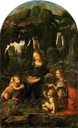 Leonardo da Vinci, The Virgin of the Rocks, c. 1483-86, oil on panel, 199 x 122 cm (Louvre, Paris)