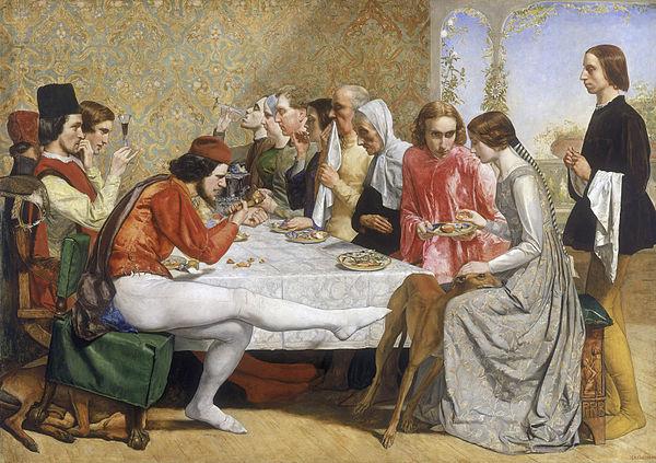 John Everett Millais, Isabella, 1848-49, oil on canvas, 103 x 142.8 cm (Walker Art Gallery, Liverpool)