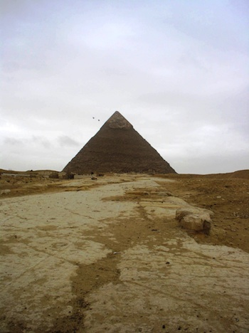 Pyramid of Khafre, c. 2520-2494 (photo: Dr. Amy Calvert)