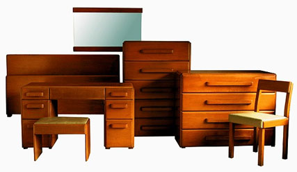 "Russel Wright, ""American Modern"" furniture line, 1935"