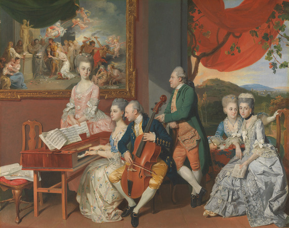Johan Joseph Zoffany, The Gore Family with George, third Earl Cowper, c. 1775, oil on canvas (Yale Center for British Art, Paul Mellon Collection)