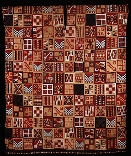 All-T'oqapu Tunic, Inka, 1450–1540, camelid fiber and cotton, 90.2 x 77.15 cm (Dumbarton Oaks, Washington D.C.)