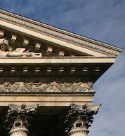 Entablature (detail), Church of La Madeleine, 1807-45 (Paris)