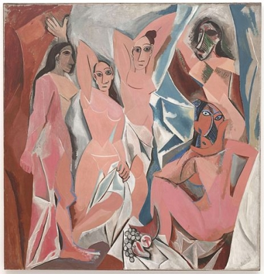 Pablo Picasso, Les Demoiselles d'Avignon, 1907, oil on canvas, 243.9 x 233.7 cm (Museum of Modern Art, New York City)