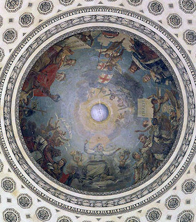 Antoine-Jean Gros, The Apotheosis of Saint Genevieve, 1811, dome, Jacques-Germain Soufflot, Church of Ste-Geneviève (now Le Panthéon), Paris, France, 1755-90