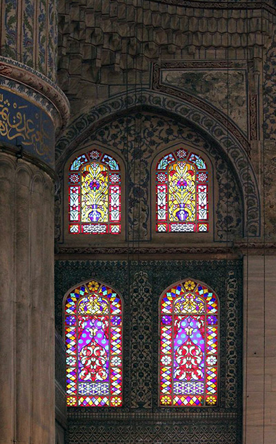 Stained glass windows, Blue Mosque, photo: Radha Dalal