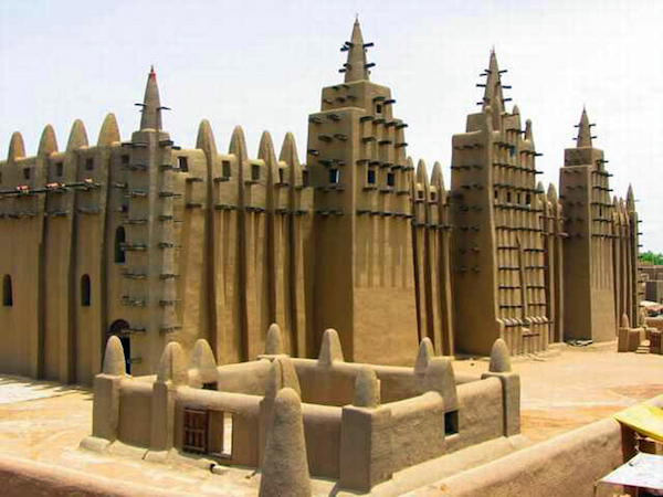 Façade (detail), Great Mosque of Djenné, Mali, 1907 (photo: lhhais, CC BY-NC 2.0)