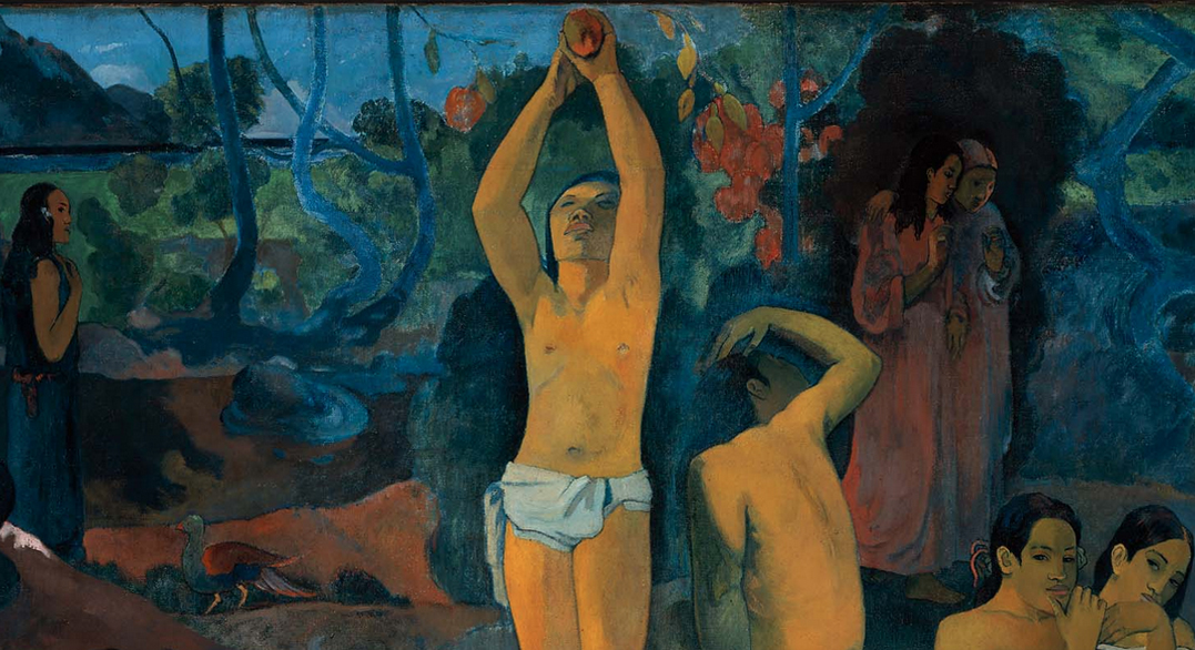 Detail, Paul Gauguin, Where do we come from? What are we? Where are we going?, 1897-98, oil on canvas, 139.1 x 374.6 cm (Museum of Fine Arts, Boston)