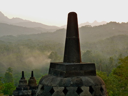 Crowning stupa, Borobudur, Indonesia (photo: Paul Atkinson, CC BY-SA 2.0)