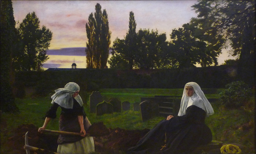 Sir John Everett Millais, The Vale of Rest: where the weary find repose, 1858 (partially repainted 1862), oil on canvas, 102.9 x 172.7 cm (Tate Britain, London)