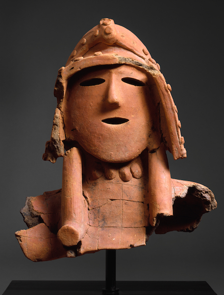 Haniwa (Hollow Clay Sculpture) of a Warrior, Kofun period, Japan, 5th - early 6th century, earthenware with painted, incised and applied decoration (Kanto region) (The Metropolitan Museum of Art)