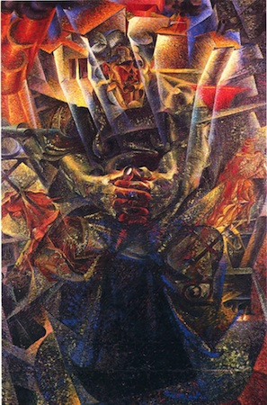 italian futurism an introduction article khan academy umberto boccioni materia 1912 reworked 1913 oil on canvas 226 x 150 cm mattioli collection loaned to peggy guggenheim collection venice