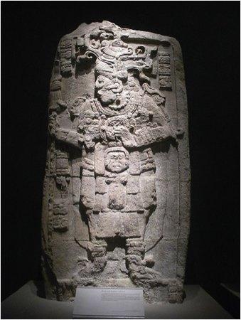 A Mayan ruler in ritual dress, Stela 51, Calakmul, Campeche, Mexico, 731 C.E.,(Museo Nacional de Antropología, Mexico D.F.)