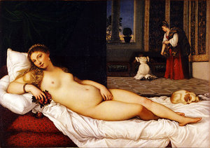 Titian, Venus of Urbino, 1538, oil on canvas, 165.5 x 119.2 cm (Uffizi, Florence, Italy)