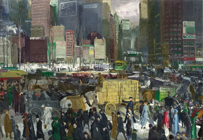 "George Wesley Bellows, New York, 1911, oil on canvas, 42 x 60"" / 106.7 x 152.4 cm (National Gallery of Art, Washington, D.C. )"