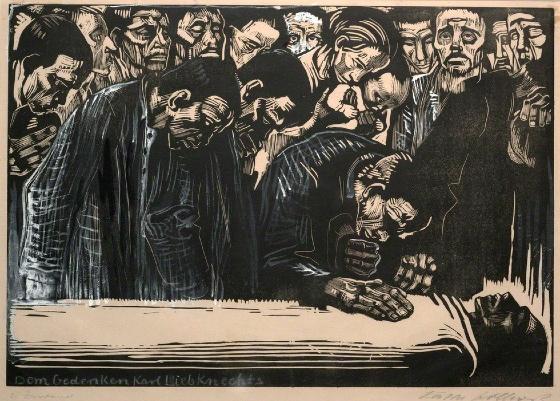 Image result for kollwitz memoriam karl liebknecht