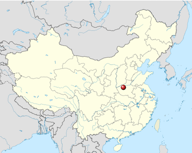 Location of the Longmen caves in China