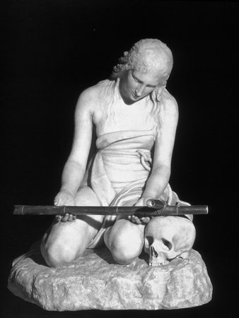 Antonio Canova, The Penitent Magdalene, c. 1794-96, marble and gilt bronze, height 94 cm, (Museo di Sant'Agostino, Genoa)