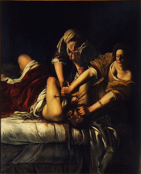 Artemisia Gentileschi, Judith Slaying Holofernes, 1620-21, oil on canvas, 162.5 x 199 cm (Uffizi Gallery, Florence, Italy)