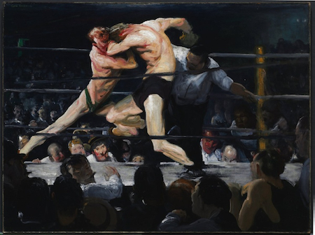 George Bellows, Stag at Sharkey's, 1909, oil on canvas, 36.2 x 48.3 in./ 92 x 122.6 cm (Cleveland Museum of Art)