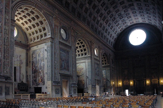 Nave looking west, Alberti, Basilica of Sant'Andrea, 1472-90, Mantua