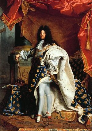 Hyacinthe Rigaud, Louis XIV, 1701, oil on canvas, 114 x 62 5/8 in (The J. Paul Getty Museum)