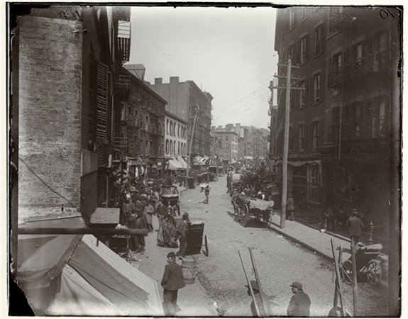 Jacob August Riis, The Mulberry Bend, c. 1890, 7 x 6 inches from How the Other Half Lives: Studies Among the Tenements of New York, Charles Scribner's Sons: New York, 1890 (The Museum of the City of New York)